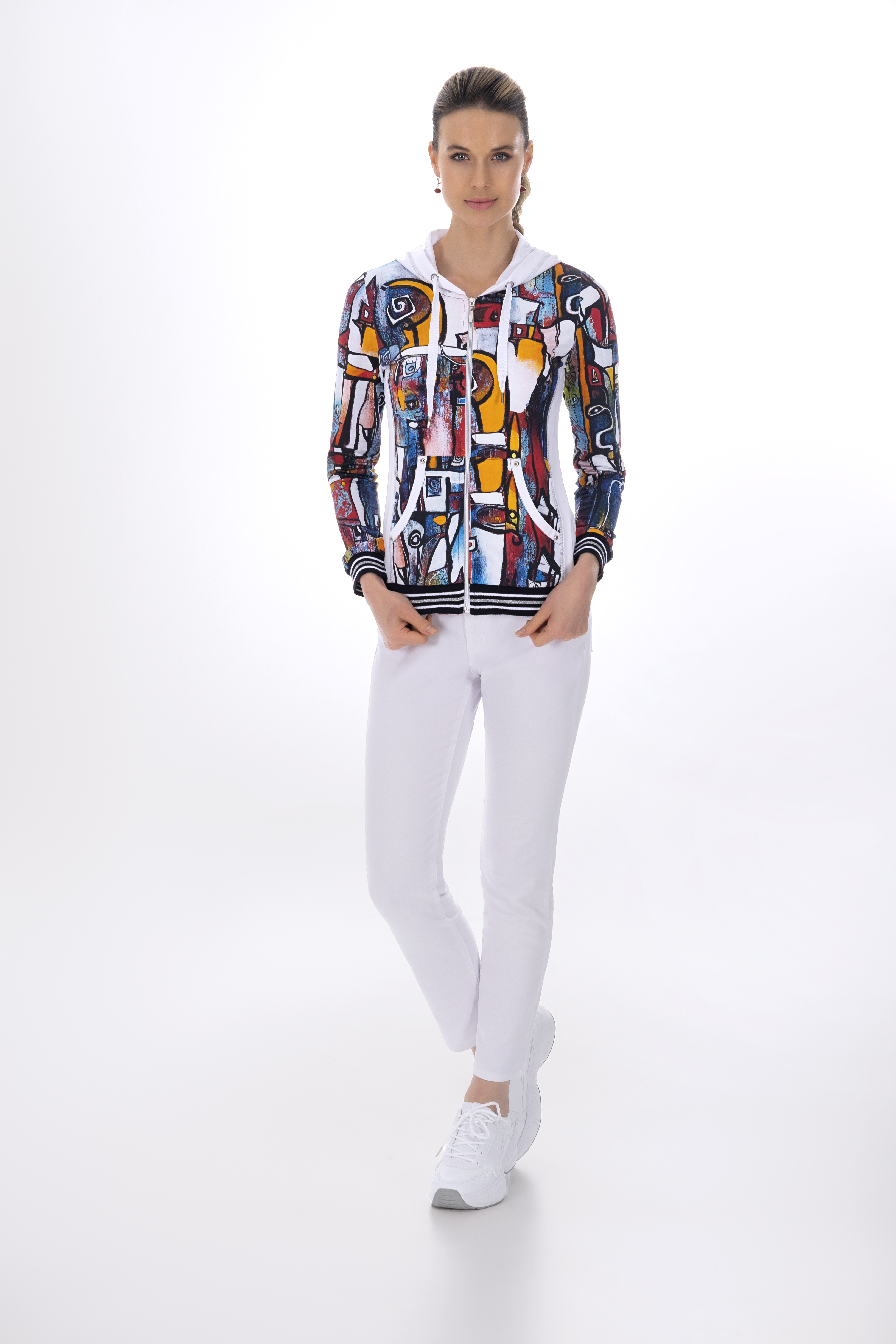 Simply Art Dolcezza: It's Complicated Crazy Cool Abstract Art Zip Up Hoodie (1 Left!)