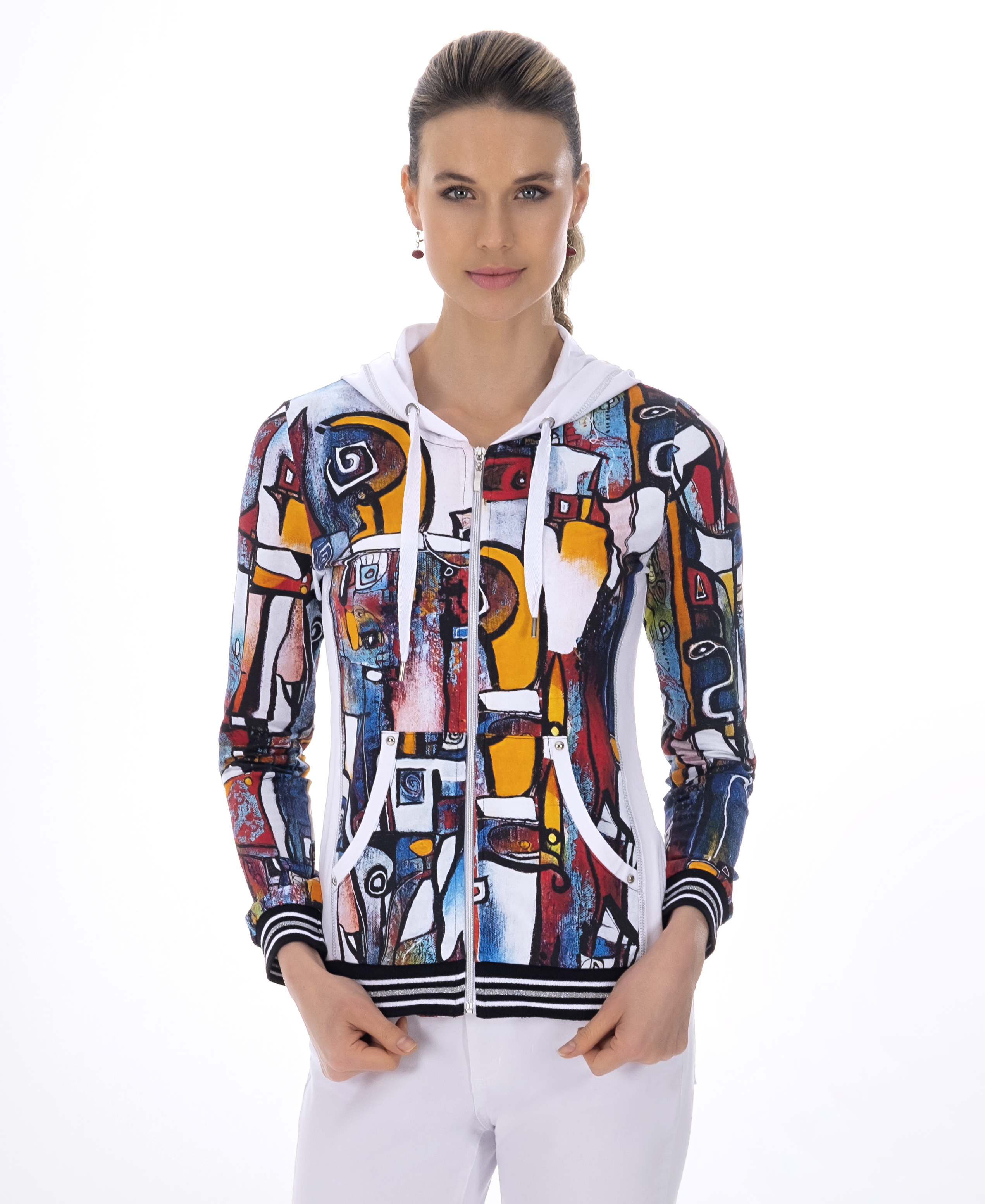 Simply Art Dolcezza: It's Complicated Crazy Cool Abstract Art Zip Up Hoodie (1 Left!) DOLCEZZA_SIMPLYART_21713