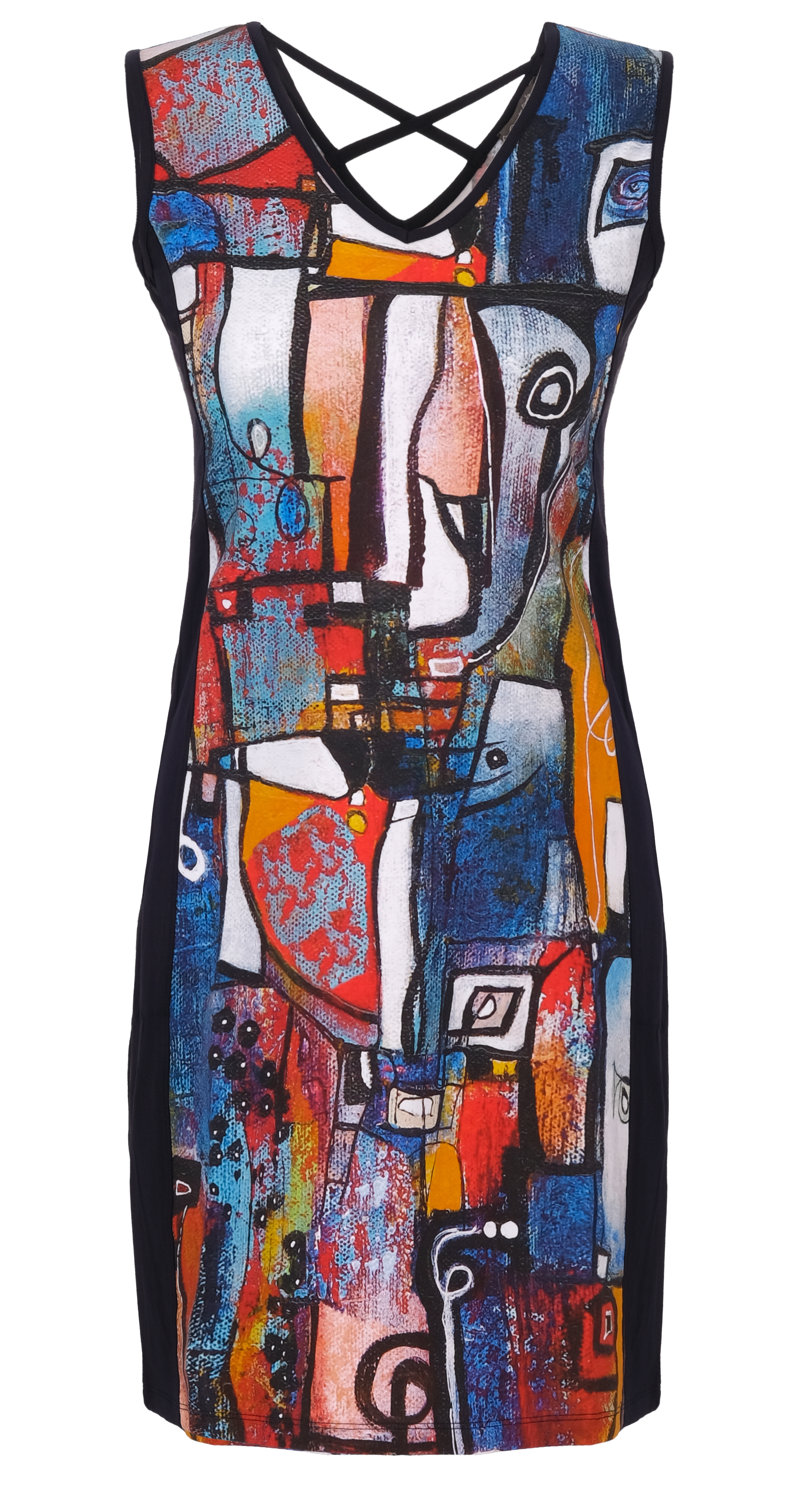 Simply Art Dolcezza: It's Complicated Crazy Cool Contrast Art Dress/Tunic (1 Left!) Dolcezza_SimplyArt_21715