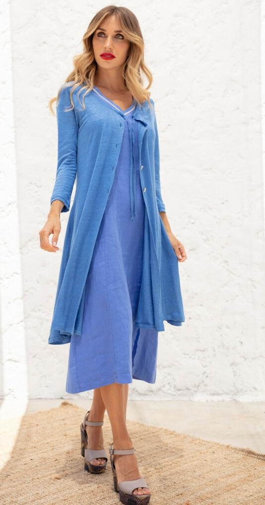 Maloka: Flared Linen Maxi Cardigan (More Colors!) MK_MADELINE
