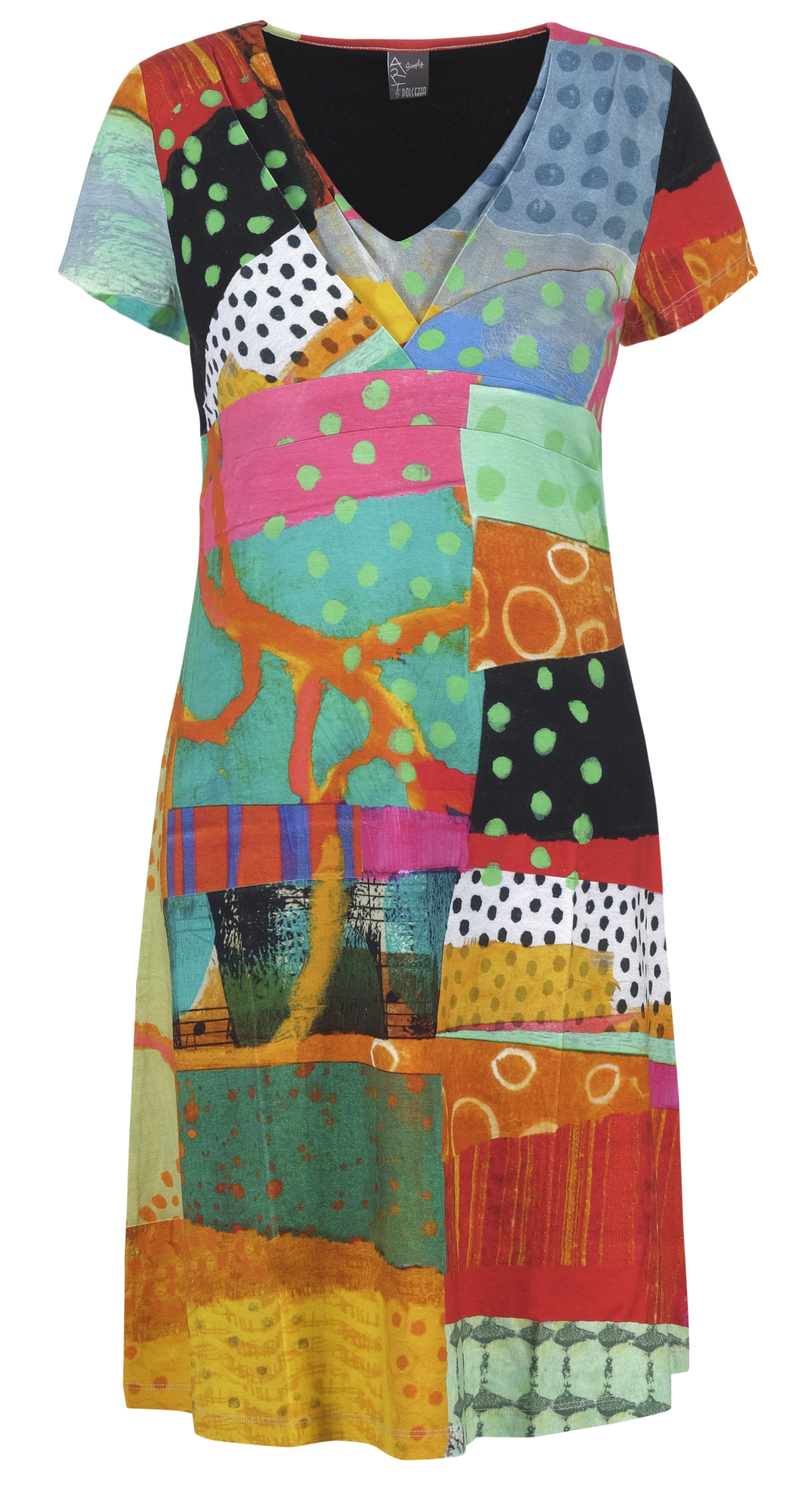 Simply Art Dolcezza: Leisurely Love Stowe In October Flared Abstract Art Dress (1 Left!) Dolcezza_SimplyArt_21653