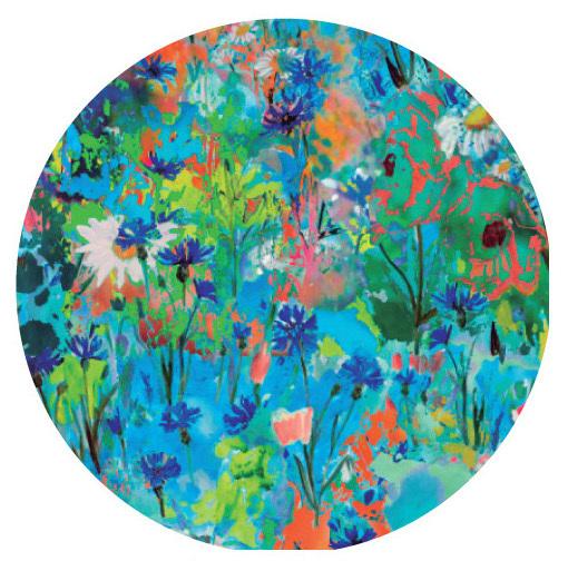 Maloka: Circus Fantasy Art Tied Waist Flared Sundress (In Beauty Blooms Art, 2 Left!)