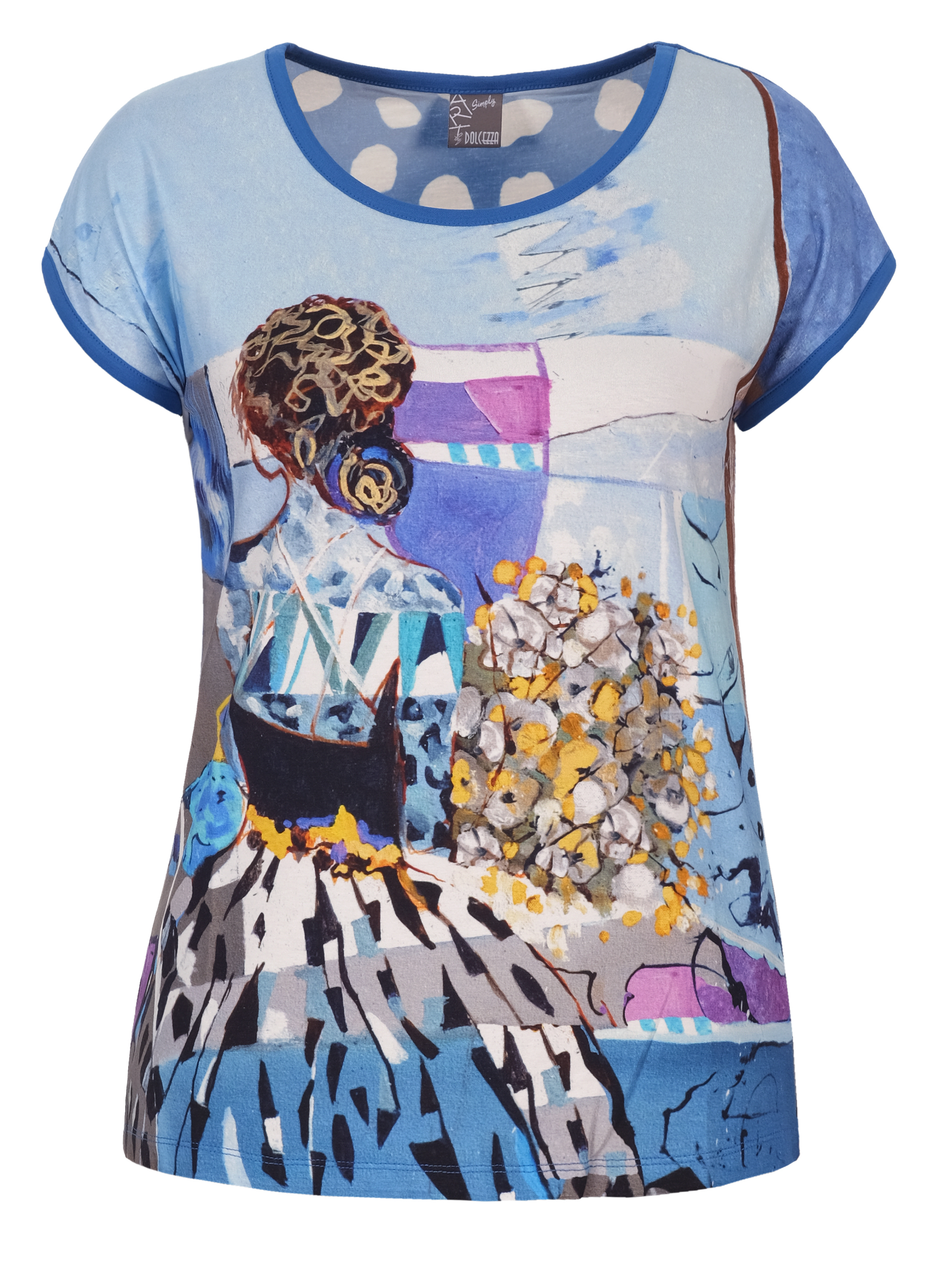 Simply Art Dolcezza: Princess Danae Capped Sleeve Abstract Art T-Shirt (1 Left!) Dolcezza_SimplyArt_21741
