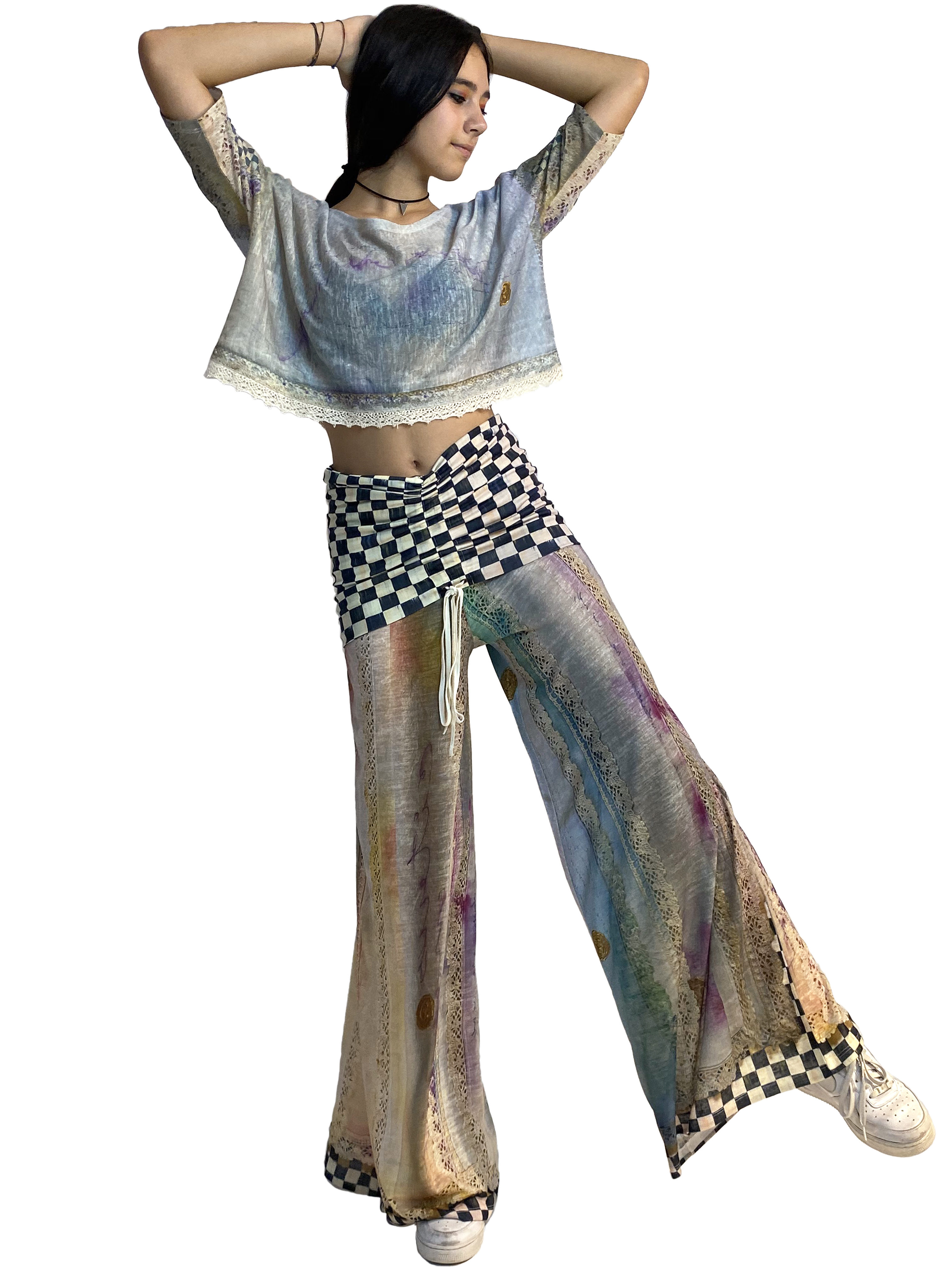 IPNG: Never Enough Color Orchid Illusion Comfort Drape Pants (Converts to Jumpsuit!) Ships Immed, 1 Left! IPNG_NECYPD-048