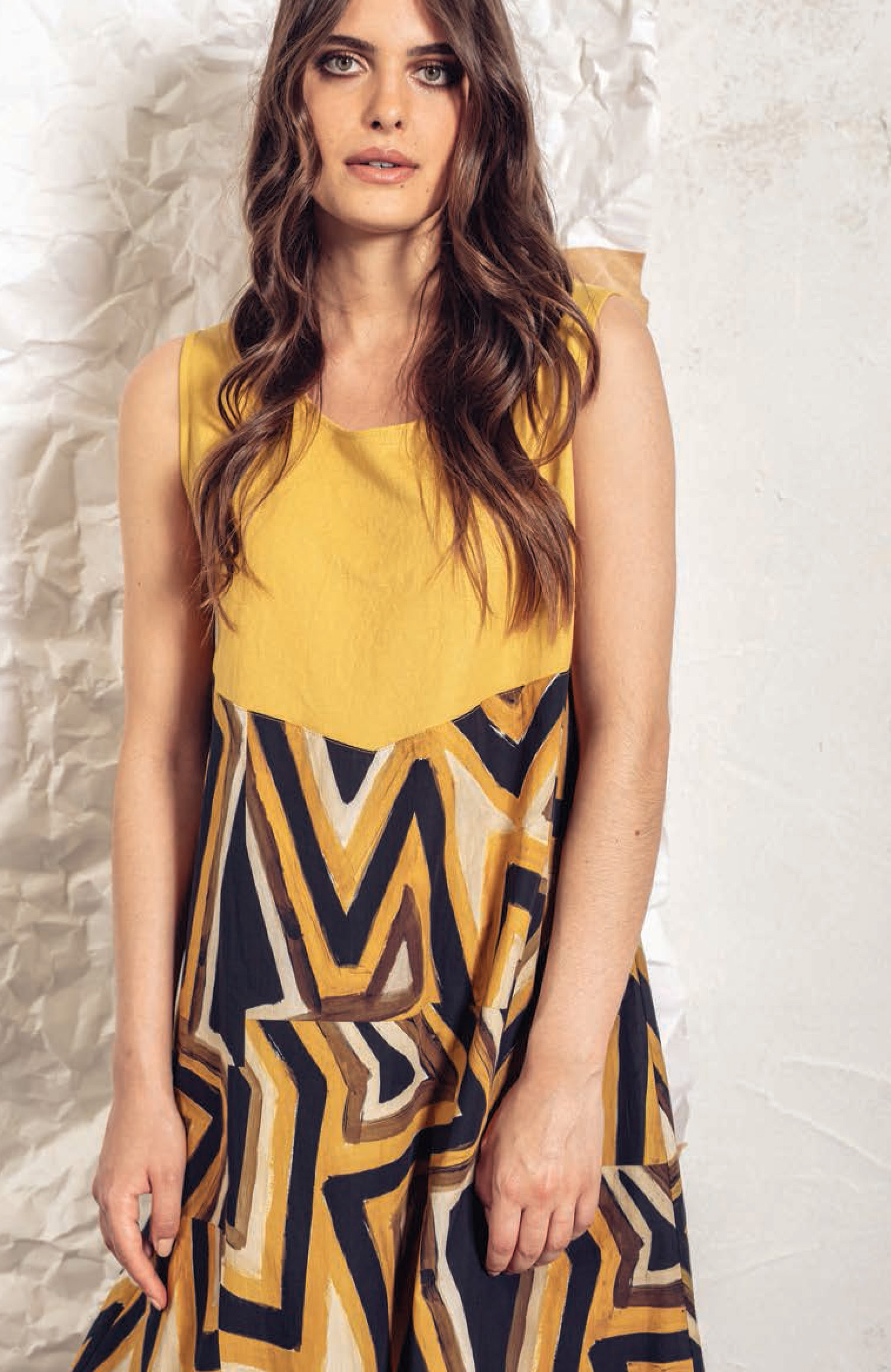 G!oze: Lemon Candy High Waisted Flared Dress/Tunic (More Top Colors!) G_FUTUR