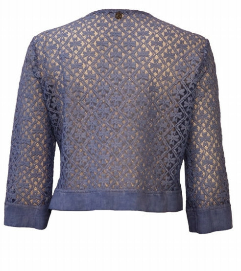Maloka: Petal Crocheted Linen Stretch Bolero/Jacket (More Colors!)