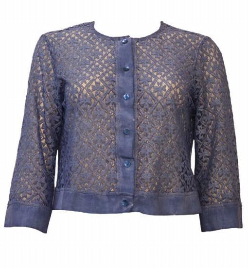 Maloka: Petal Crocheted Linen Stretch Bolero/Jacket (More Colors!) MK_TERESE