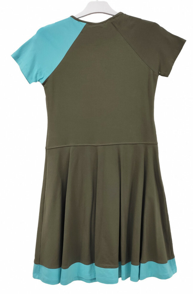 Paul Brial: Two-Tone Flared Melody Dress
