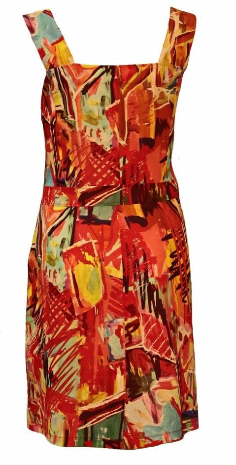 Maloka: Shimmering Colors Of MontMartre Linen/Cotton Dress