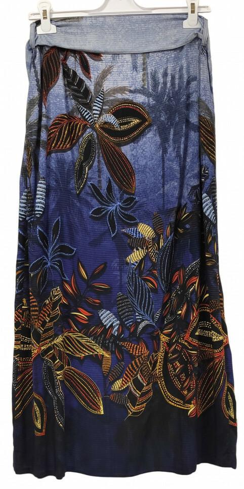 Paul Brial: Palm Tree Printed Wrap Maxi Skirt