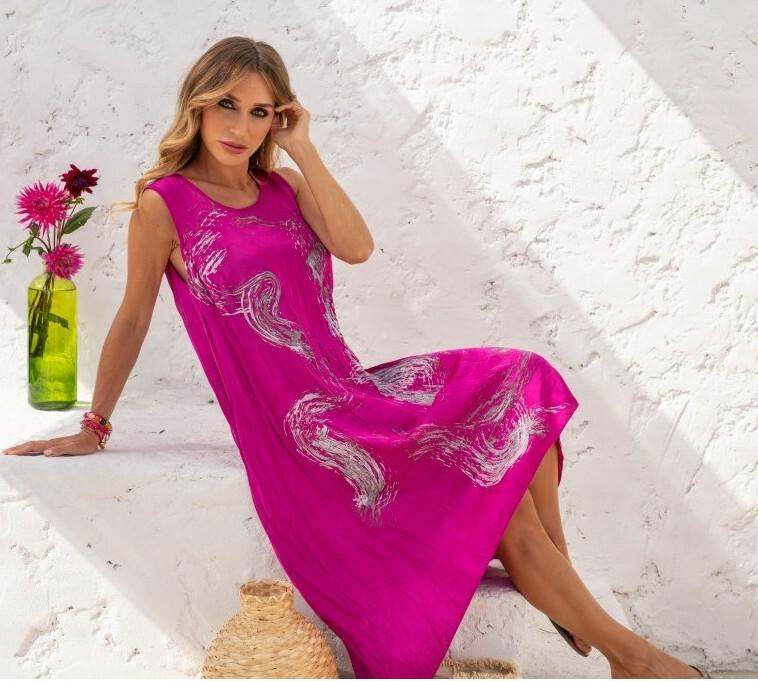 Maloka: Sparkle Crinkled Asymmetrical Maxi dress MK_EFFIE