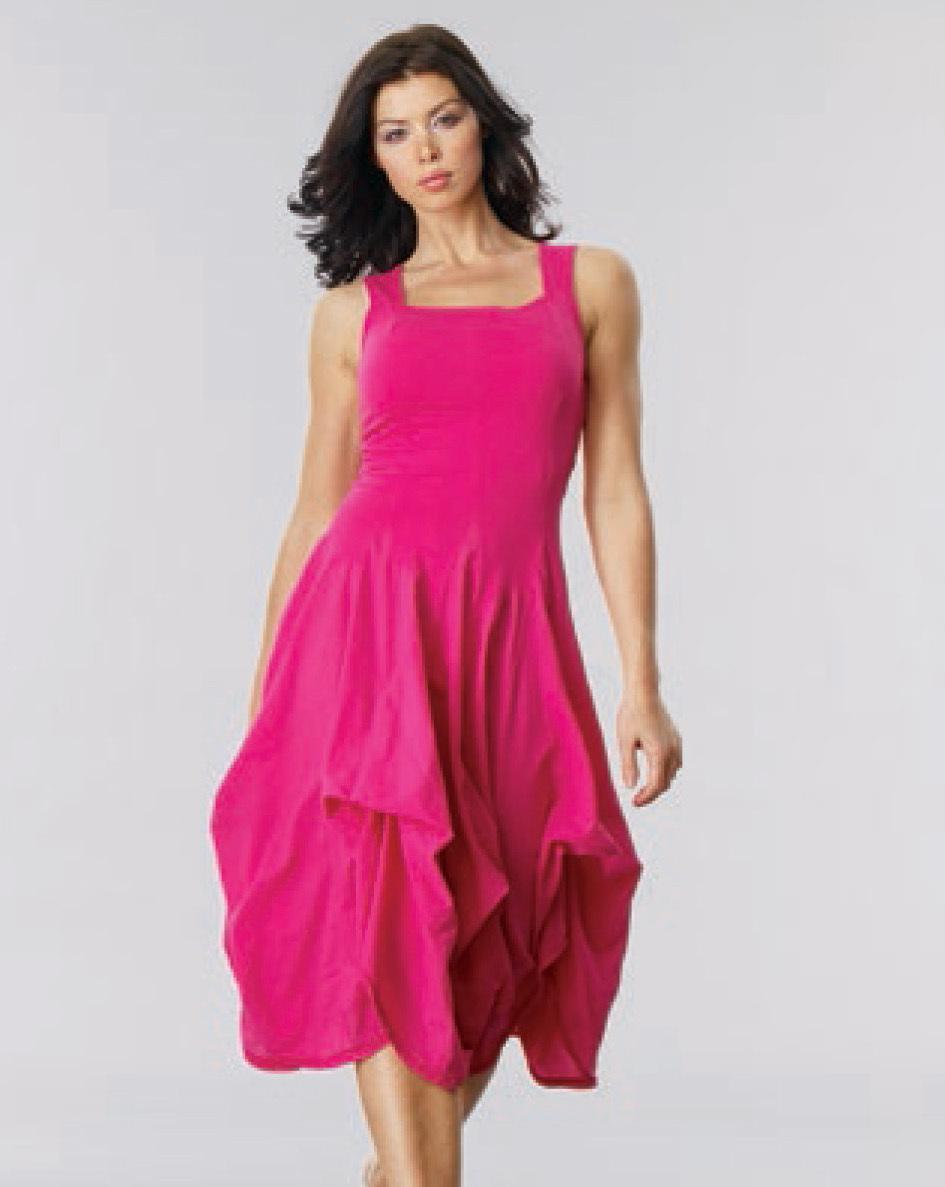 Luna Luz: Romantic Square Neck Tied & Dyed Midi Dress (In Navy, Black, Zest, Bonfire- All Ship Immed, Few Left!) LL_534T_New