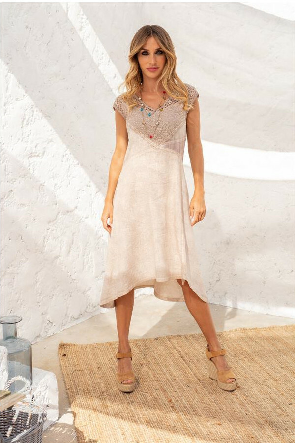 Maloka: Cotton Dream Flared High Low Dress (More Colors!) MK_TEMPLE