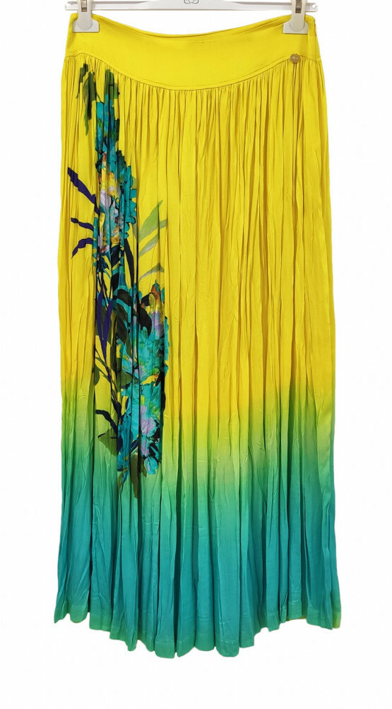 Paul Brial: Exquisite Blooms Of Maldives Crinkled Maxi Skirt PB_VAHINE_N
