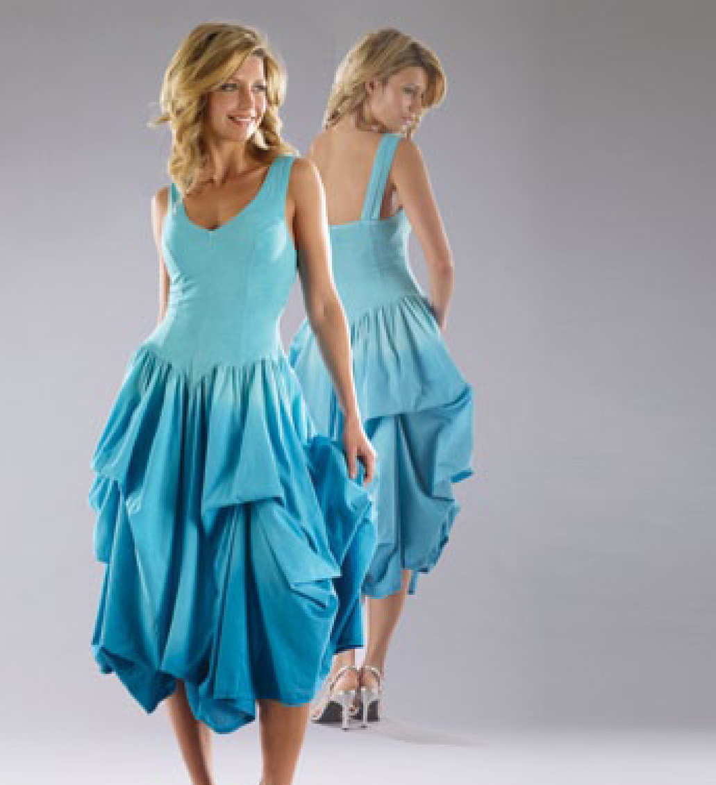 Luna Luz: Classic Tied & Dyed Midi/Maxi Dress (Ships Immed In Navy, 2 Left!) LL_541T_NAVY