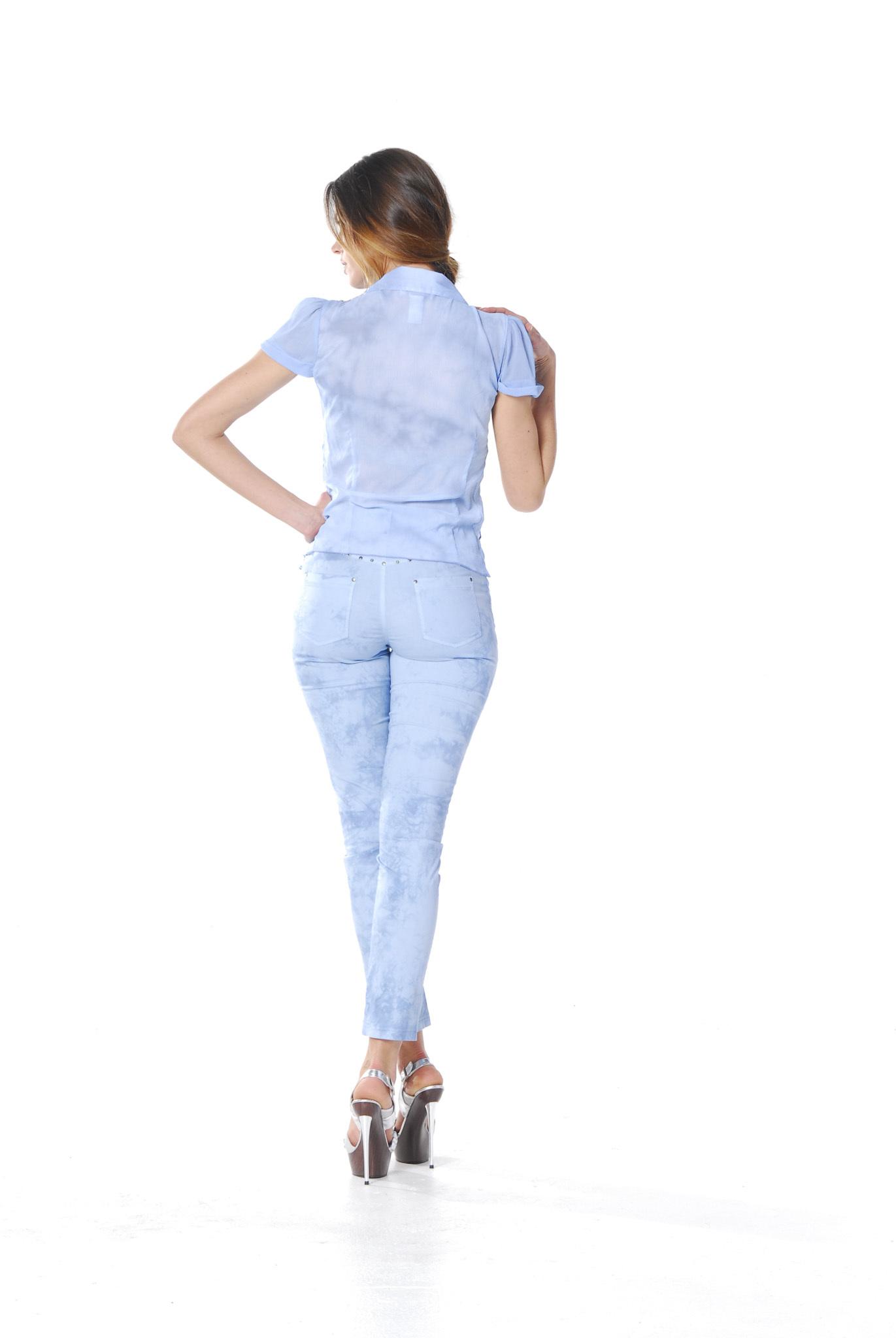 Les Fees Du Vent Couture: Pantalon Baby Blue Splash LFDV_888113