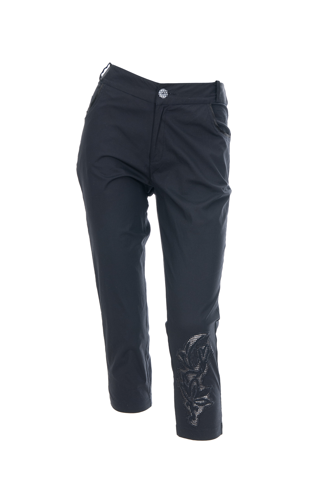 Les Fees Du Vent Couture: Midnight Orchid Cropped Pant (In Black & White) LFDV_888011