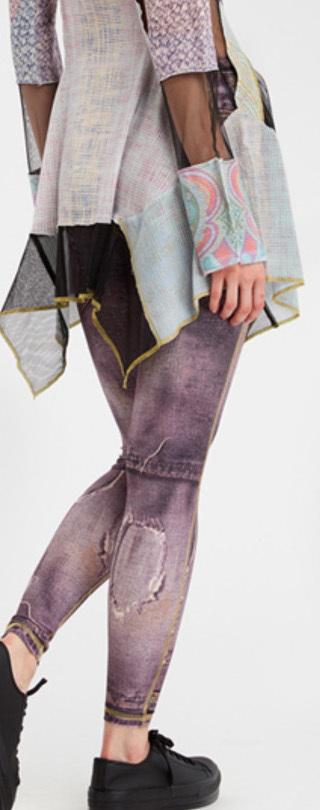 IPNG: Love Me Criss Cross Denim Illusion Legging (Ships Immed in Vintage Plum, 1 Left!)