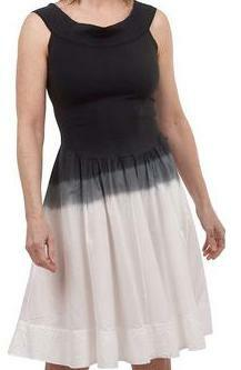 Luna luz: Sleeveless Black Ombre Midi Dress (Ships Immed, 2 Left!)
