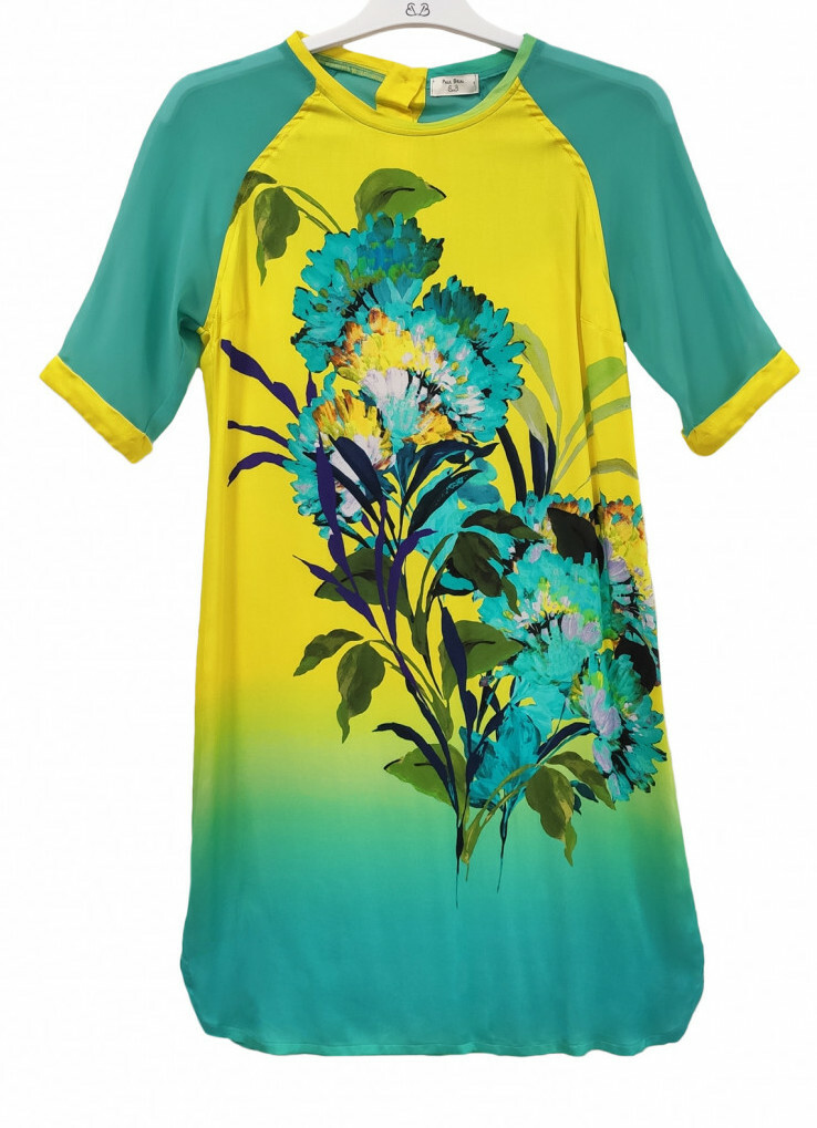 Paul Brial: Exquisite Blooms Of Maldives T-Shirt Dress (3 Left!)