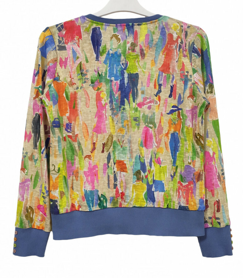 Paul Brial: Can you see the Women In Neon Color Block Cardigan (1 Left!)