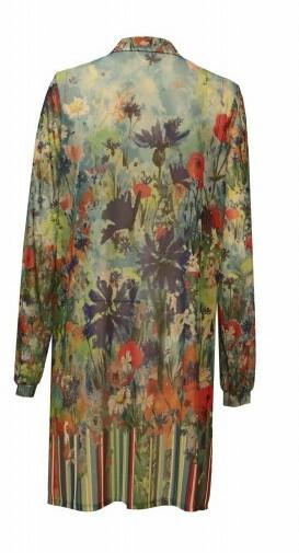 Maloka: Beauty Blooms Abstract Art Maxi Blouse