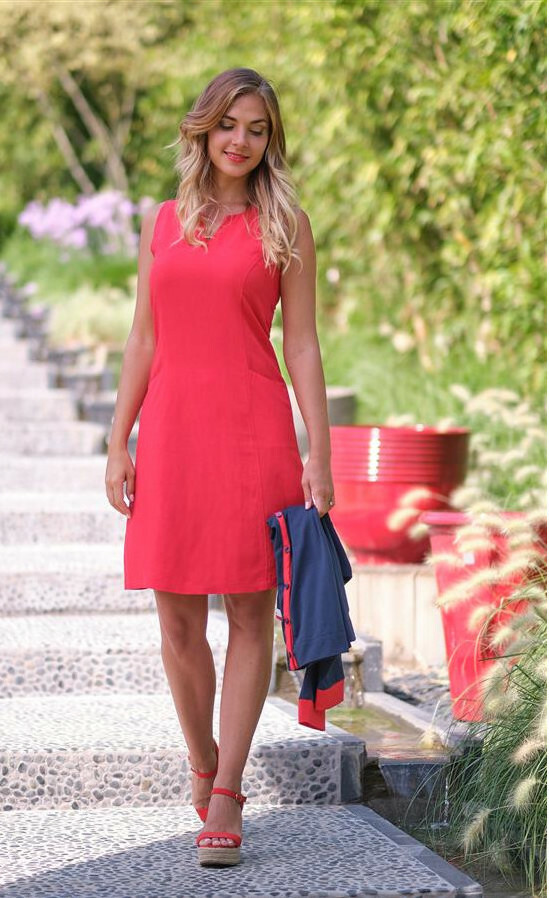 Paul Brial: Little Red Flared Pocket Dress (More Colors!) PB_LALIA