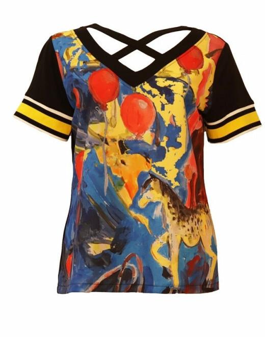 Maloka: Circus Fantasy Abstract Art T-Shirt