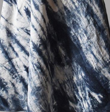 Luna Luz: Ribbed Linen A-Line Tie Dye Midi Dress (Ships Immed in Biscotti, 2 Left!)