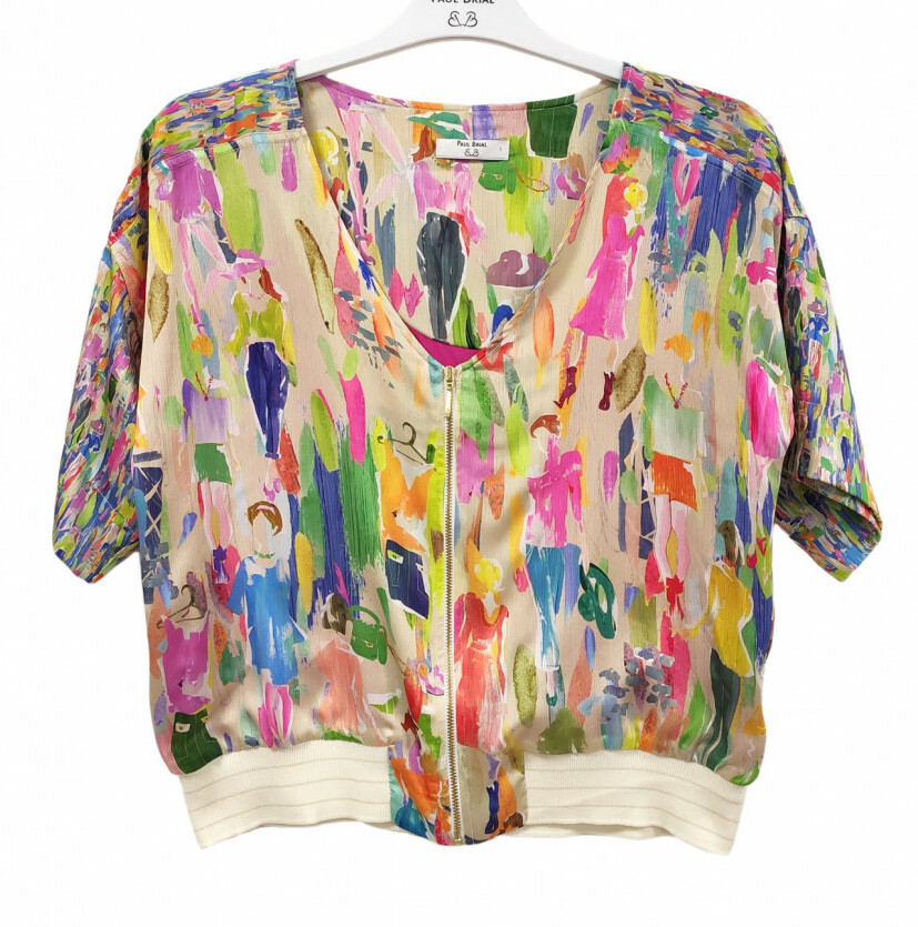 Paul Brial: Can you see the Women In Neon Zip Blouse Jacket PB_TOKYO