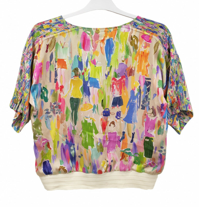 Paul Brial: Can you see the Women In Neon Zip Blouse Jacket