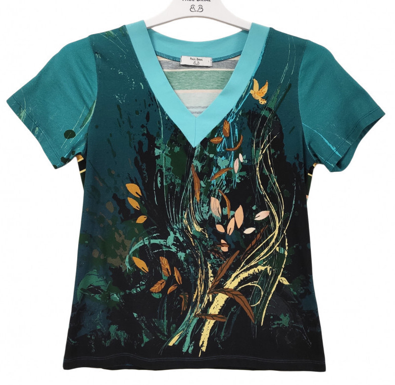 Paul Brial: Underwater Flight Abstract Art T-Shirt PB_ ALOUETTE