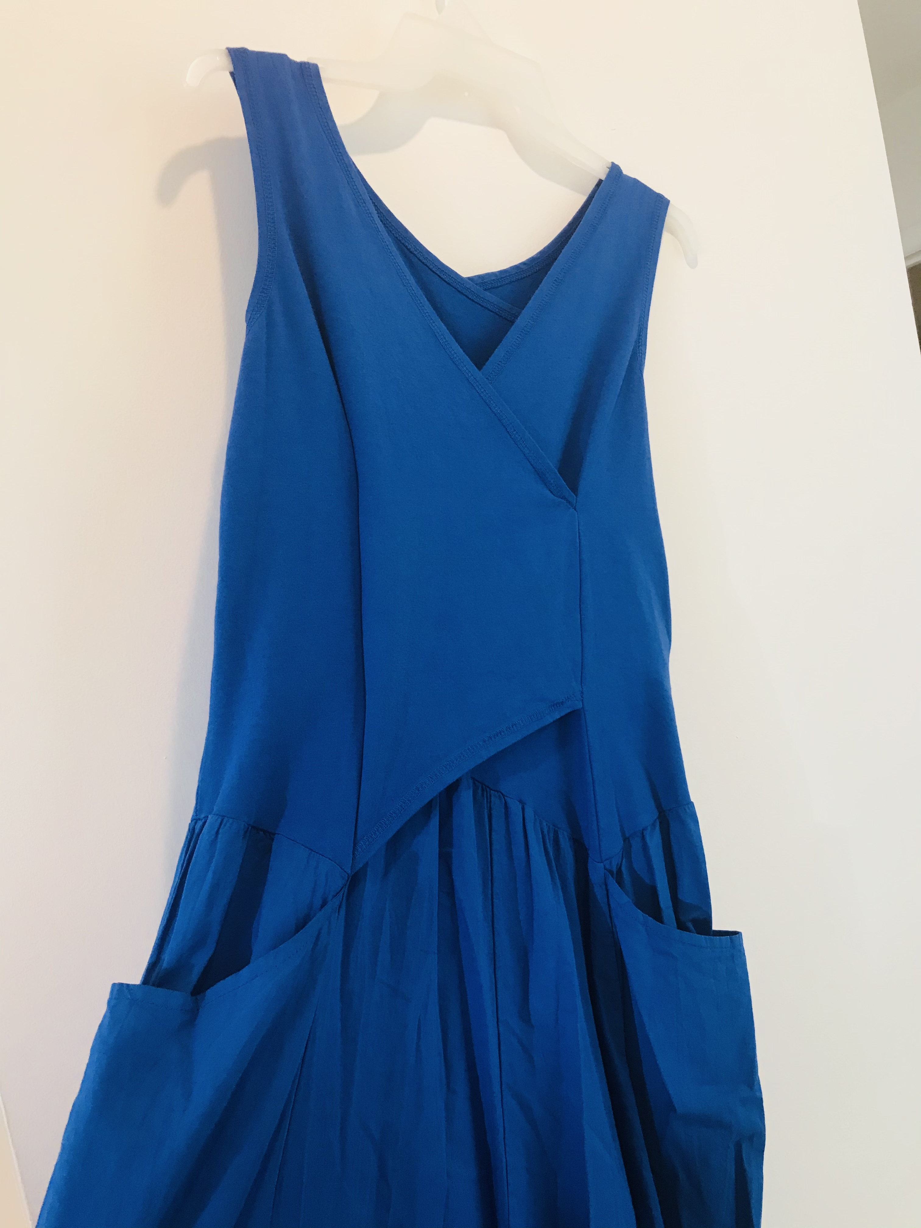 Luna Luz: Cross Over Bodice Maxi Dress (Ships Immed in Electric Blue, 1 Left!) LL_516_Electric_Blue_N