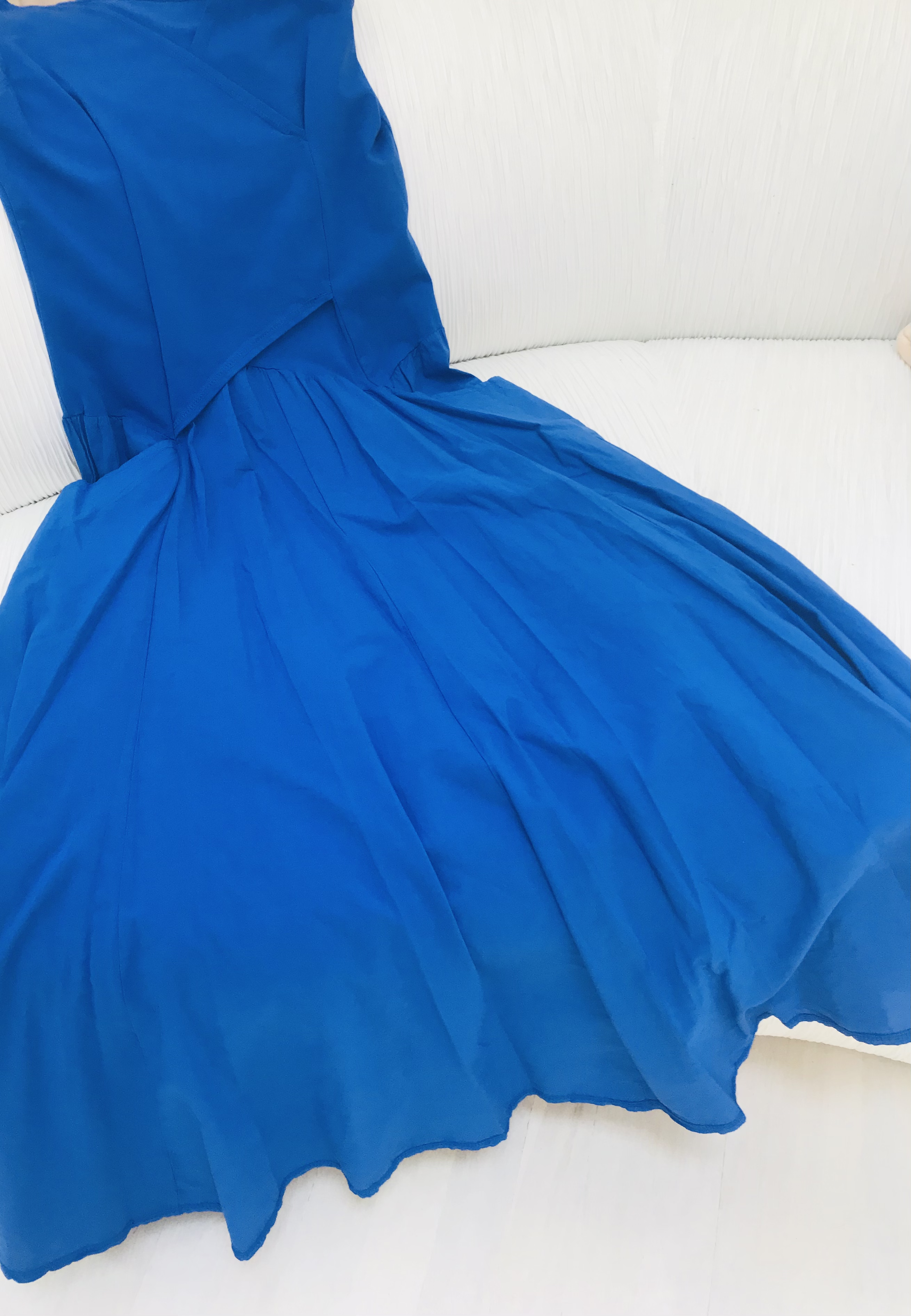 Luna Luz: Cross Over Bodice Maxi Dress (Ships Immed in Electric Blue, 1 Left!)