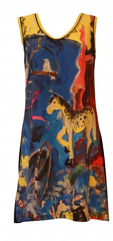 Maloka: Circus Fantasy Abstract Art Mini Dress/Tunic