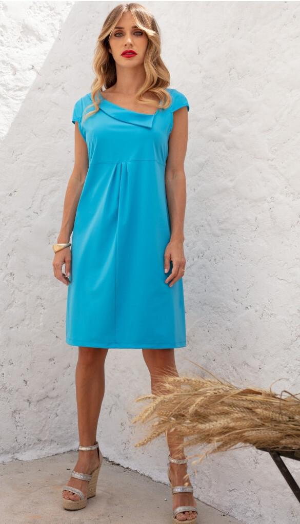 Maloka: Fun Flipped Neck High Waisted Midi Dress (More Colors!) MK_KERRI