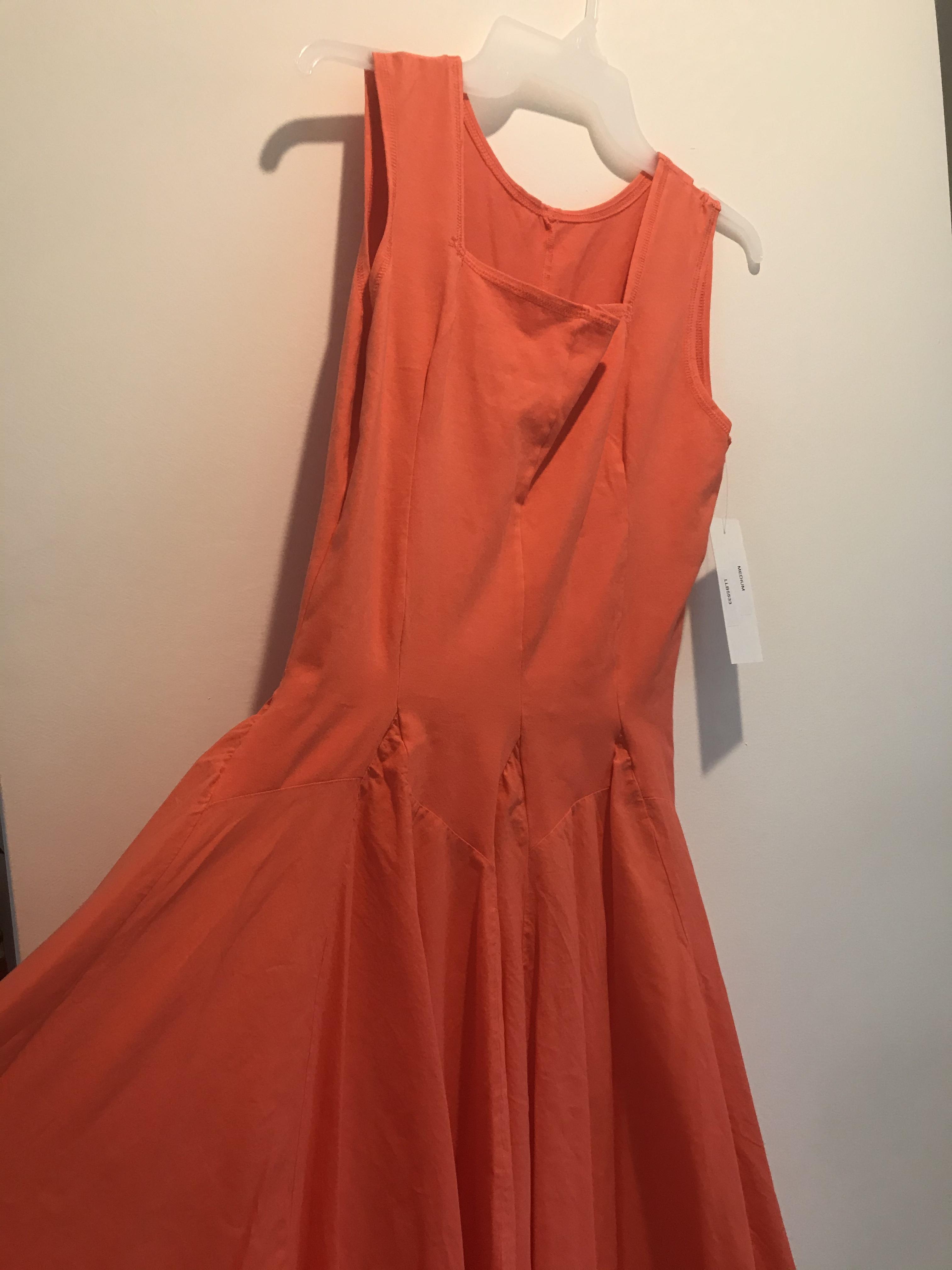 Luna Luz: Godet Dyed Square Neck Dress (Ships Immed in Zest, 1 Left in Medium!) LL_5533_ZEST