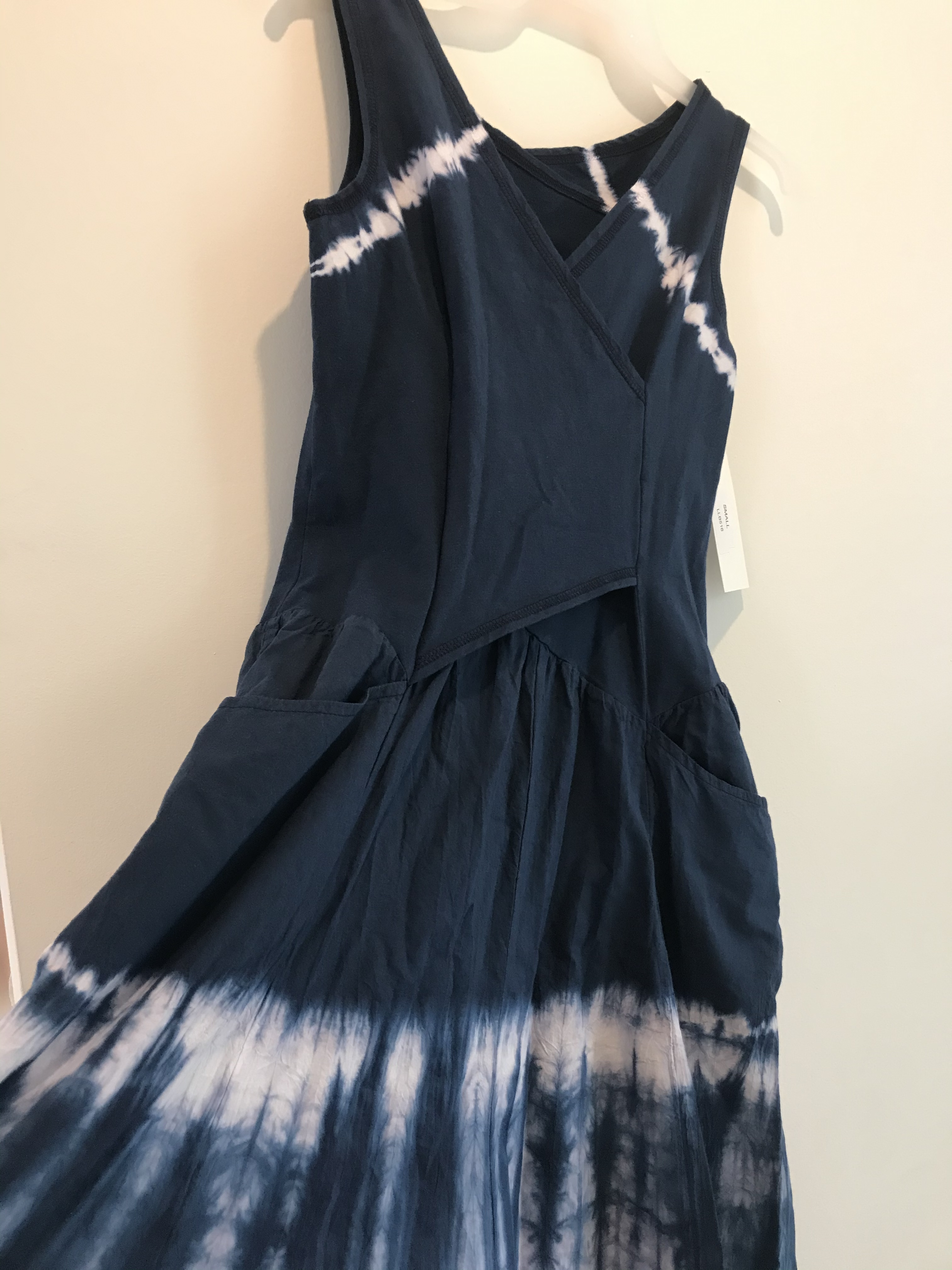 Luna Luz: Cross Over Bodice Maxi Dress (Ships Immed, 1 Left in Inkwell!) LL_516_INKWELL
