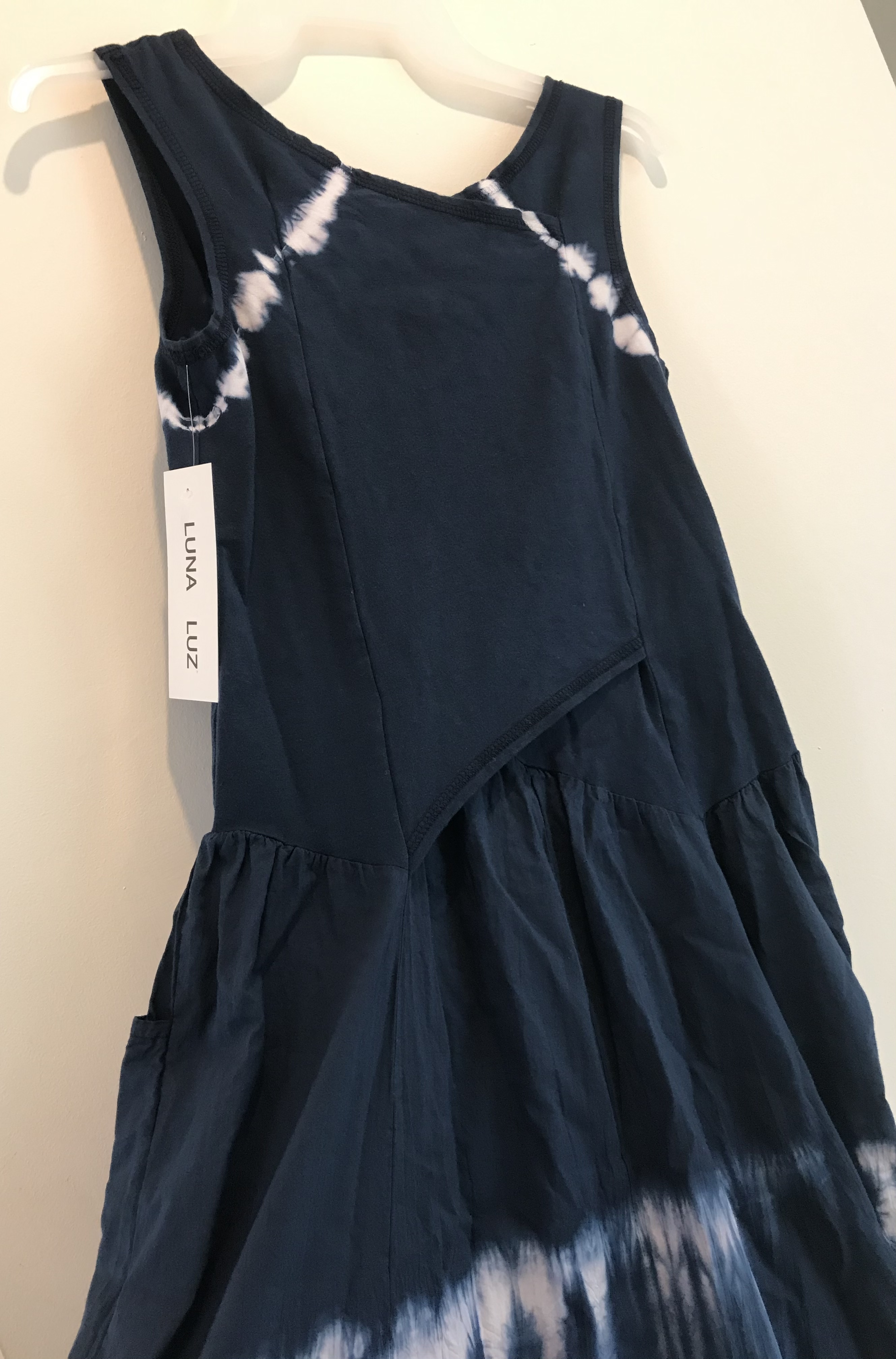 Luna Luz: Cross Over Bodice Maxi Dress (Ships Immed, 1 Left in Inkwell!)