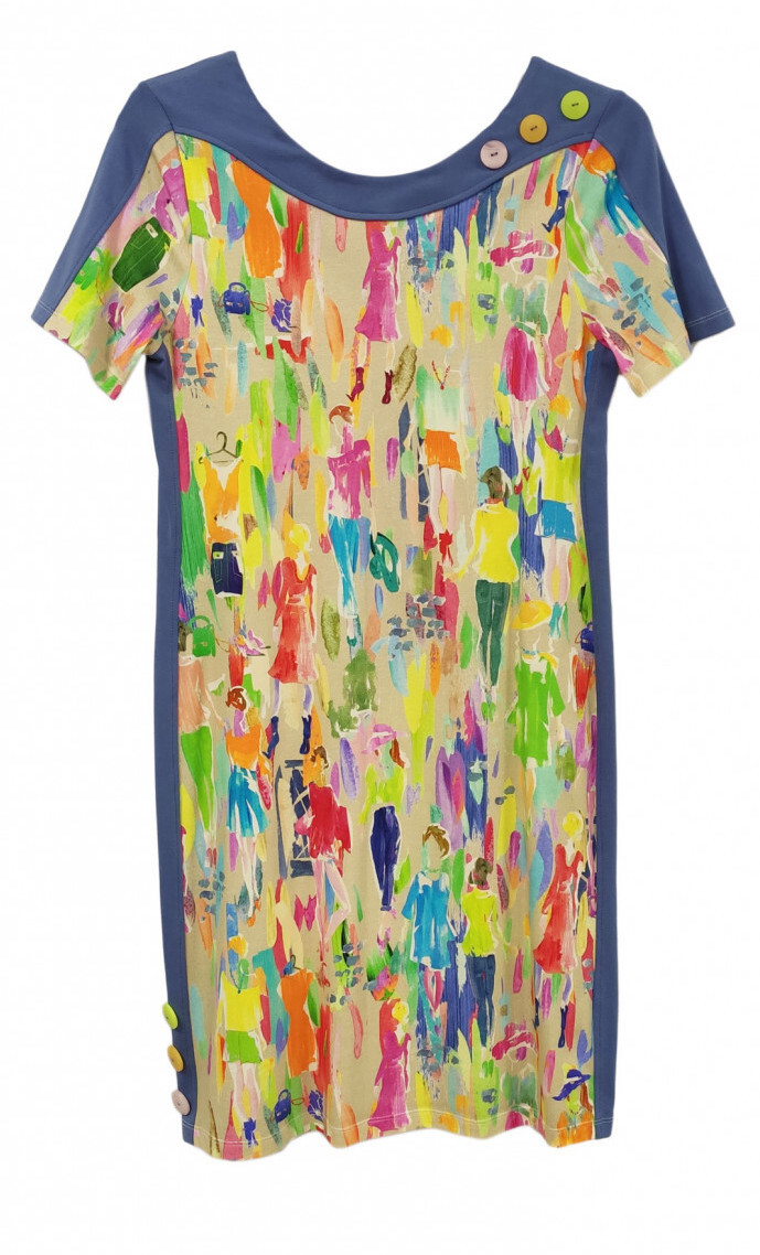 Paul Brial: Can you see the Women In Neon Color Contrast Mini Dress/Tunic