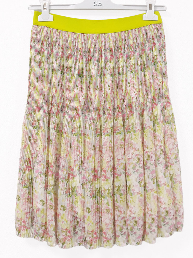 Paul Brial: Spring Is In The Air Pleated Art Midi Skirt PB_DAPHNE