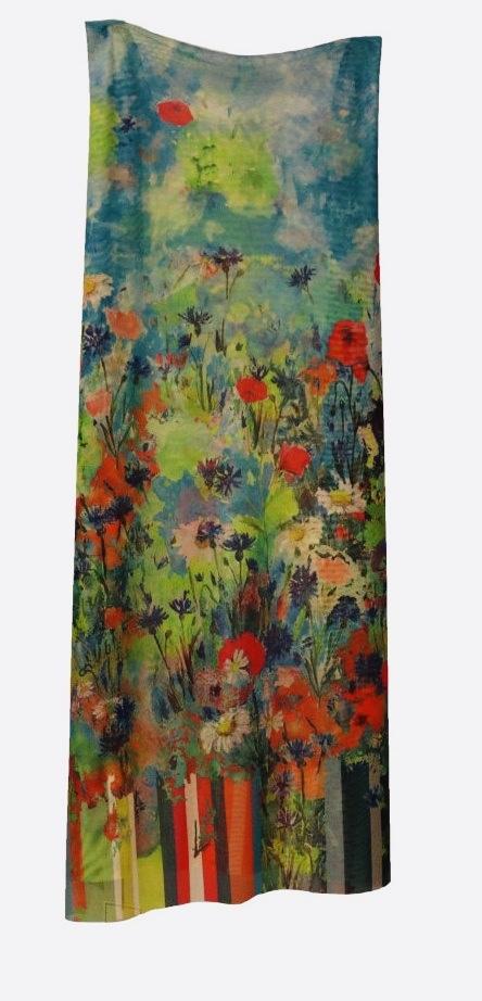 Maloka: Beauty Blooms Art Beach Skirt/Shawl (Converts to Art Scarf!) MK_ODALYS_FAIRY