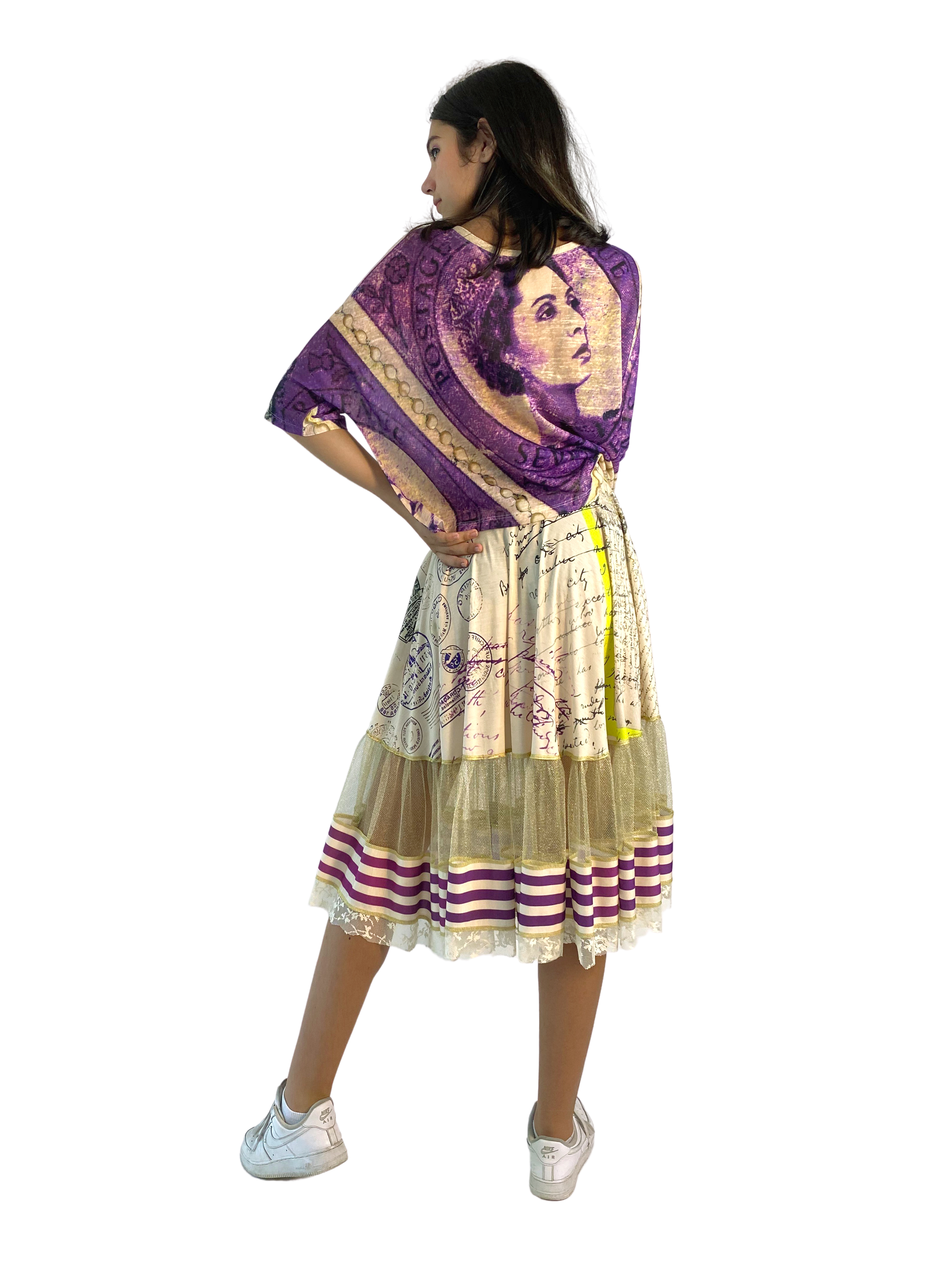 IPNG: If I Was Dancing In Paris Illusion Flared Midi Skirt (Some Ship Immed!)