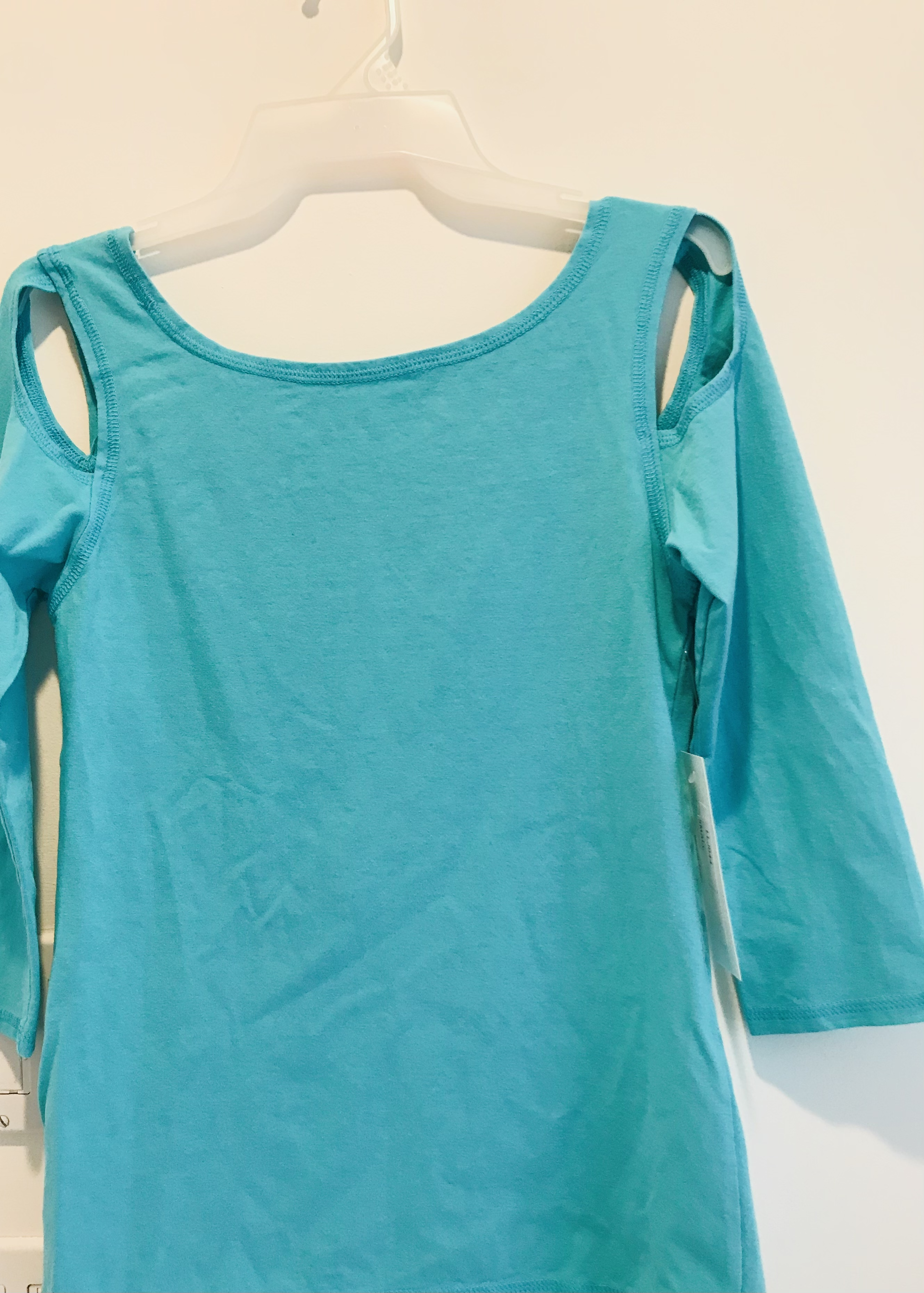 Luna Luz: Open Sleeve Cotton Top (Ships Immed in Angel Blue!) LL_044_Angel_Blue