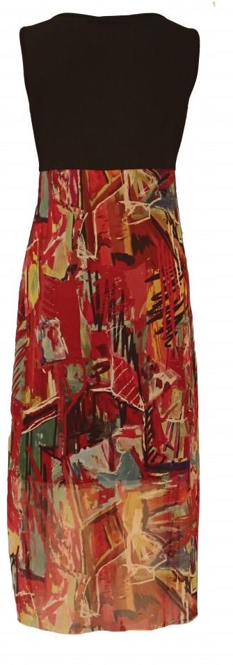 Maloka: Shimmering Colors Of MontMartre Art Maxi Dress (Few Left!)