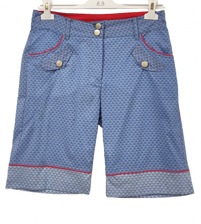 Paul Brial: Printed Bermuda Cotton Shorts PB_EMPREINTE