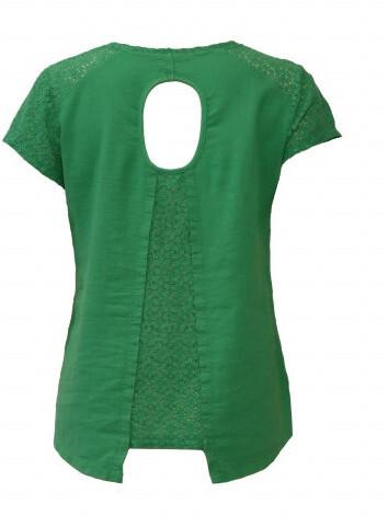 Maloka: Crocheted Split Flared Linen Top (More Colors!)