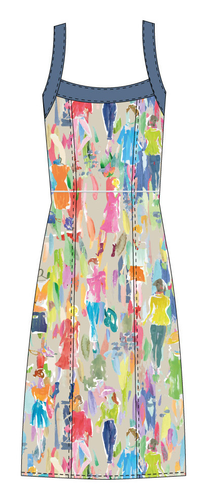 Paul Brial: Can you see the Women In Neon Linen/Cotton Dress PB_MADRID