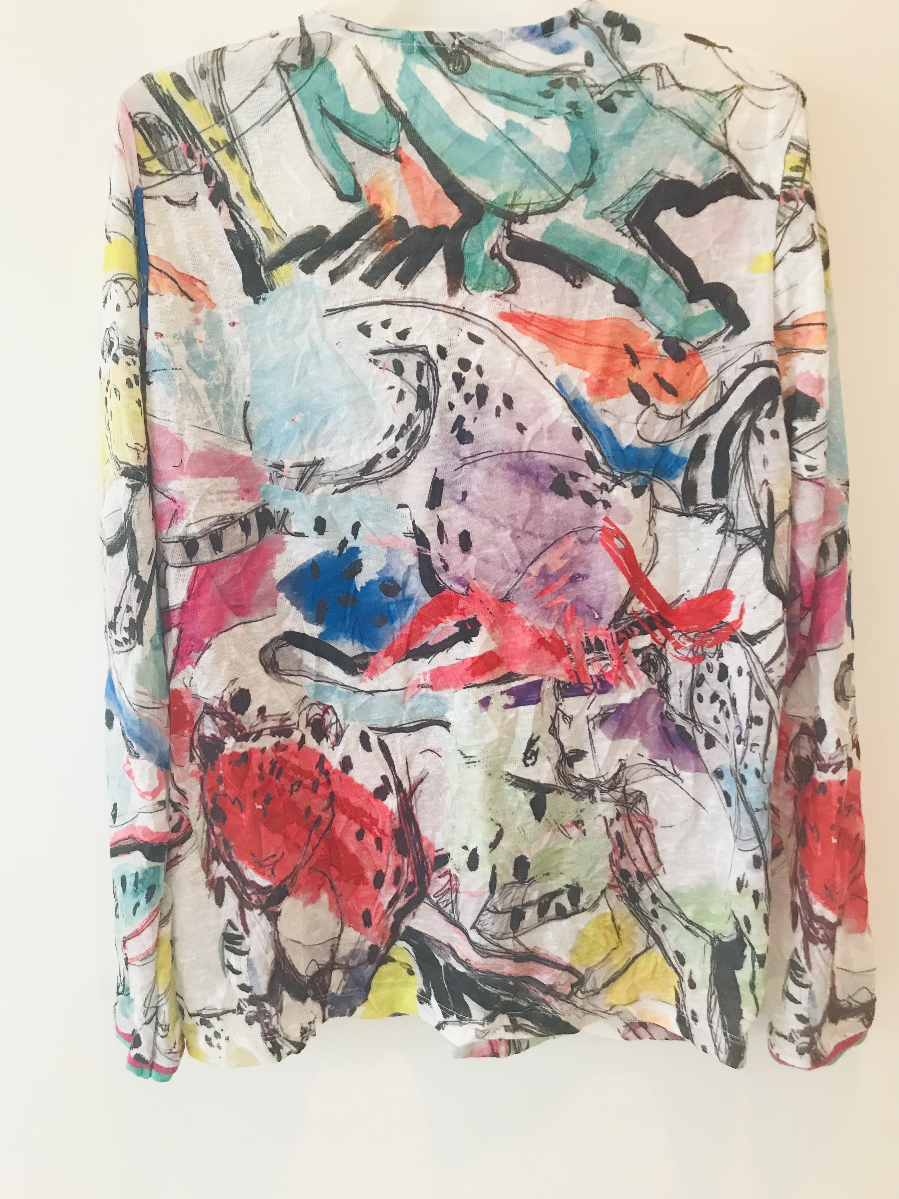 Maloka: Pink Leopard Abstract Art Cardigan (1 Left!)