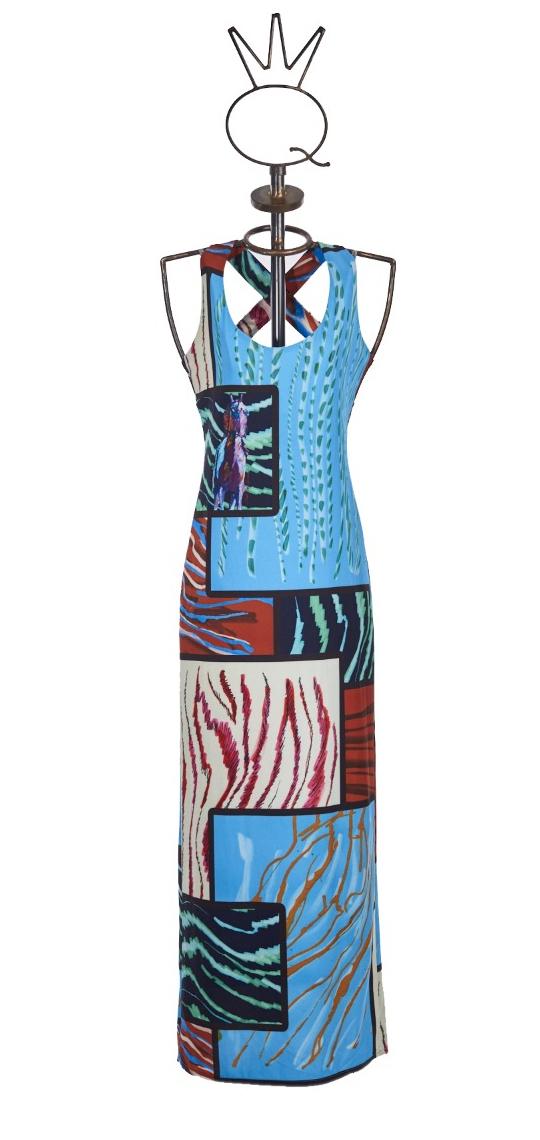 Save The Queen: Purple Unicorn Crepe Printed Maxi Dress